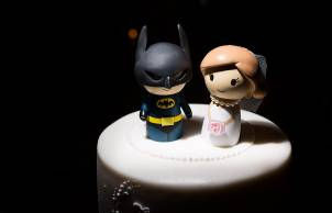 Laura & Paul, Superhero Themed White Hart wedding