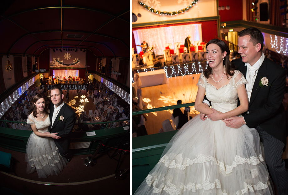 Uppermill Civic Hall winter wedding photography