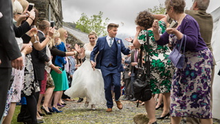 confetti at an incredibly fun Llyn Gwynant wedding.